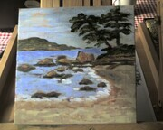 April 7, SOLD  A Painting A Day  East Sooke Beach
